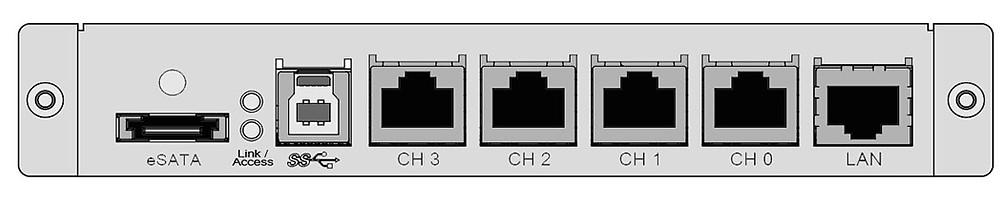 Hệ thống máy chủ RAID ARC-71xx hỗ trợ đa host, gồm một cổng eSATA 6 Gb/s, một cổng USB 3.0 và bốn cổng iSCSI 1 Gb/s.