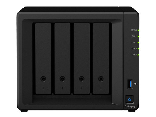 "Synology DiskStation DS418play: Máy chủ NAS 4 khay HDD/SSD 2.5""/3.5"""
