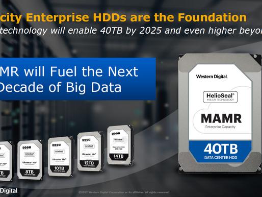 MAMR: Công nghệ mới của WD cho phép sản xuất ổ cứng 40TB vào năm 2025