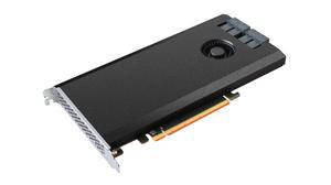 Bộ điều khiển RAID dòng SSD7100 là giải pháp RAID NVMe độc lập, sử dụng giao tiếp PCIe x16, cung cấp 4 khe PCIe 3.0 x4, mỗi khe dành cho một SSD NVMe.