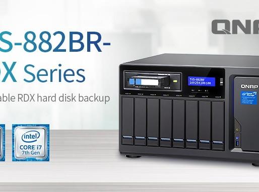 QNAP TVS-882BR RDX: Máy chủ NAS hỗ trợ sao lưu trên ổ cứng di động RDX