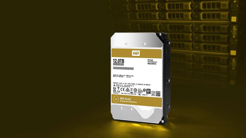 """Western Digital giới thiệu ổ cứng 3.5"""" SATA 6 Gb/s WD Gold 12TB."""