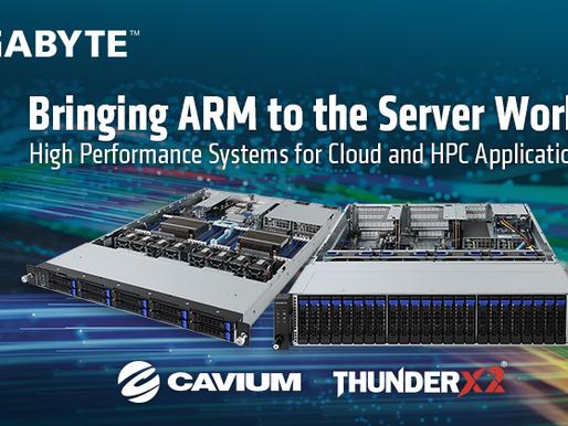 Gigabyte lần đầu giới thiệu hệ thống máy chủ ARM ThunderX2