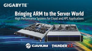 Gigabyte lần đầu giới thiệu hệ thống máy chủ ARM ThunderX2.