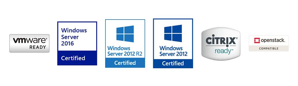 RS2418+/RS2418RP+ hỗ trợ hầu hết các giải pháp ảo hóa: VMware (VMware vSphere 6, VAAI), Windows ODX (Windows Server 2016, Windows Server 2012 R2, Windows Server 2012)...
