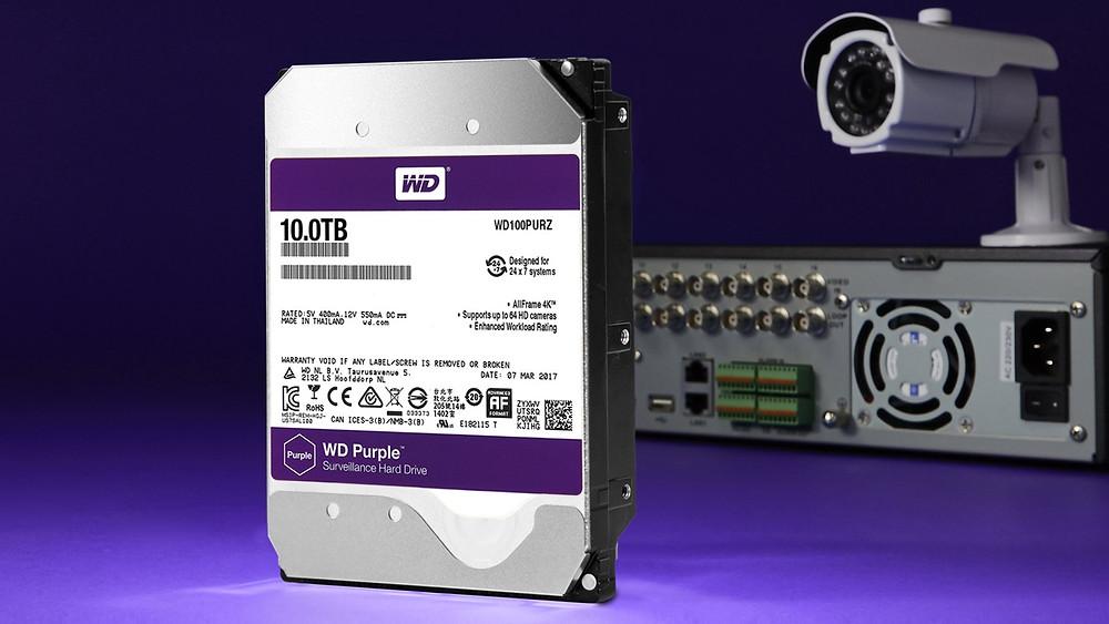 Western Digital bổ sung model 10TB vào dòng ổ cứng giám sát WD Purple