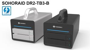 Stardom DR2-TB3: Hệ thống RAID Thunderbolt 3 với 2 khay HDD/SSD.
