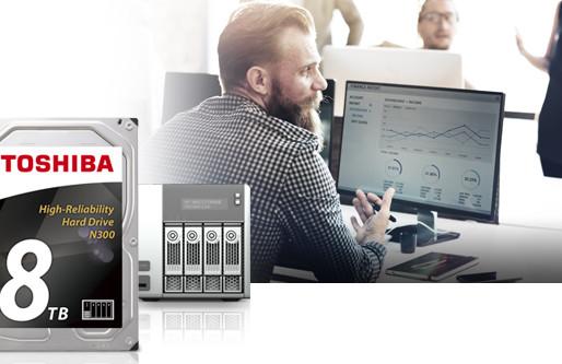 Toshiba tăng dung lượng HDD 3.5 inch N300 dành cho NAS lên 8TB