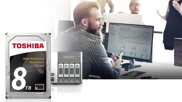 Toshiba tăng dung lượng HDD 3.5 inch N300 dành cho NAS lên 8TB.