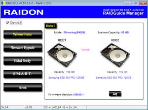 Mô-đun RAID được tạo bởi hai ổ cứng 3.5 inch giúp an toàn dữ liệu (chế độ RAID 1).