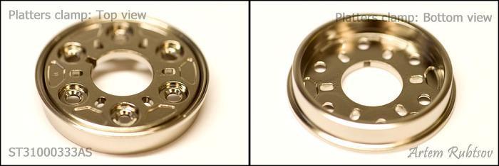 Nắp kẹp đĩa từ (platter clamp) có tác dụng ép chặt các đĩa từ thành một khối để chúng không bị xê dịch.