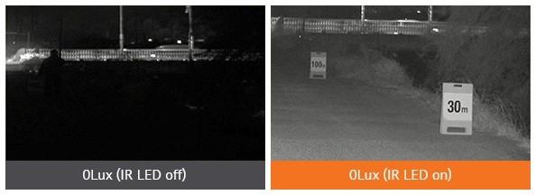 Với chức năng đèn hồng ngoại (IR), camera hoạt động hiệu quả kể cả vào ban đêm, khoảng cách nhận diện đối tượng lên đến 30m.