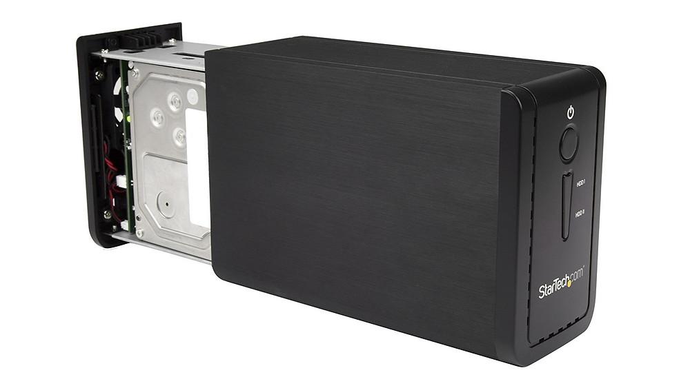 StarTech S352BU313R hỗ trợ đến 2 HDD/SSD/SSHD 3.5 inch, đa cấu hình RAID (RAID 0, RAID 1, JBOD/SPAN/BIG).