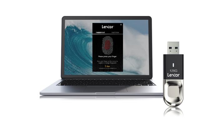 Phần mềm đăng ký vân tay của JumpDrive Fingerprint F35 chỉ tương thích với Windows XP, Vista, 7, 8 và 10.