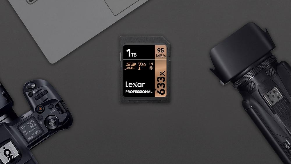Lexar Professional 633x: Thẻ nhớ SDXC UHS-I dung lượng khủng 1TB.