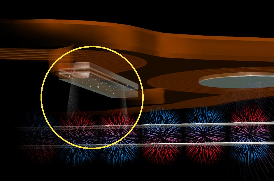 Đầu đọc (read head) là những thiết bị hiệu ứng từ điện trở xuyên hầm (tunnel magnetoresistance - TMR), gồm một lớp cách điện nằm ở giữa hai vật liệu nhạy từ.