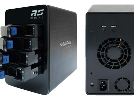 HighPoint RocketStor 6114V: Thiết bị lưu trữ RAID 5 USB 3.1 4 khay đĩa