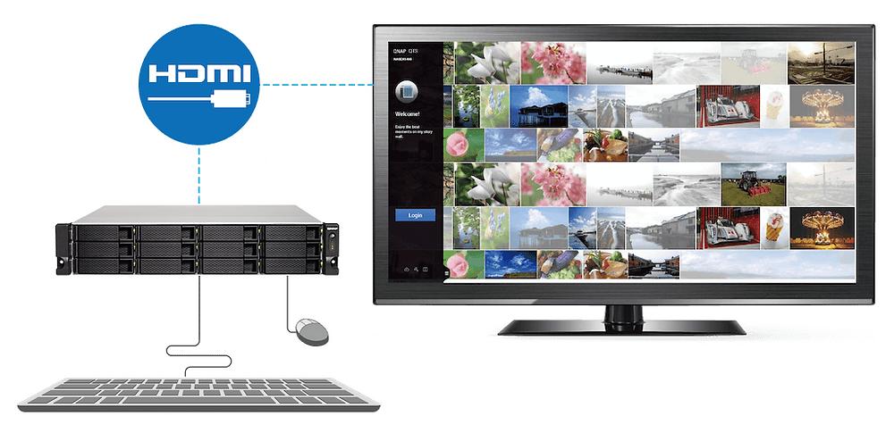 Với ứng dụng hệ thống kép QTS-Linux, dòng TS-x53BU cho phép người dùng phát triển hoặc tận dụng các thiết bị IoT dành cho Linux và hiển thị chúng bằng cách sử dụng cổng ra HDMI.