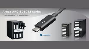 Areca ra mắt hệ thống lưu trữ RAID SAS 12Gb/s ARC-8050T3 Thunderbolt 3.