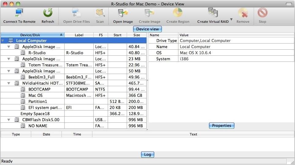 R-Tools R-Studio For Mac - Network được thiết kế đặc biệt cho môi trường Mac OS, giúp cứu dữ liệu từ các phân vùng chứa hệ thống tập tin APFS/HFS+/HFS (Mac), FAT/NTFS/ReFS (Windows)...