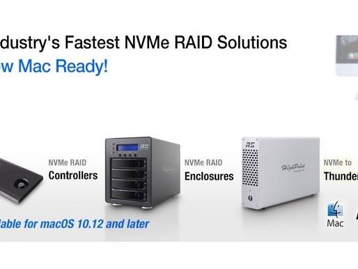 HighPoint-Tech: Giải pháp lưu trữ RAID NVMe chính thức hỗ trợ macOS