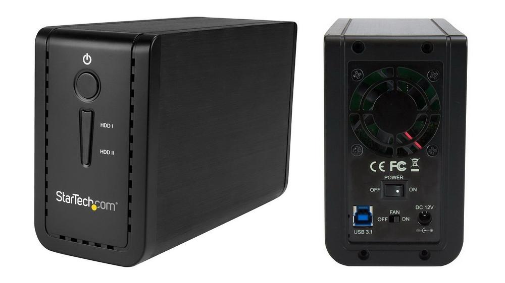 """StarTech S352BU313R: Khay 2 HDD/SSD/SSHD RAID 3.5"""" SATA 6G USB 3.1."""