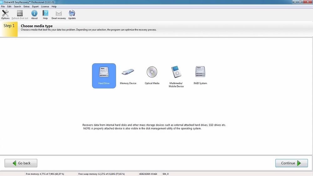 Kroll Ontrack EasyRecovery Professional (Windows): Công cụ cứu hộ không thể thiếu dành cho các doanh nghiệp nhỏ & vừa. Phần mềm cứu dữ liệu này giúp lấy lại tập tin, thư mục, tài liệu, hình ảnh, video...