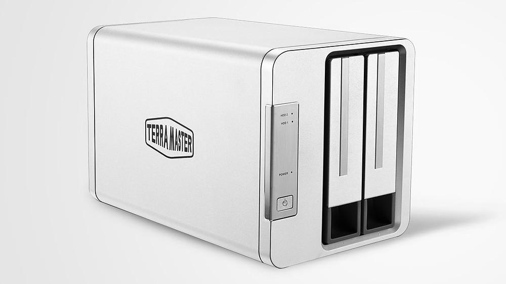 "TerraMaster D2-310: Hộp lưu trữ RAID 2 khay HDD/SSD 2.5""/3.5"" USB 3.1"