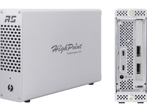 HighPoint RocketStor 6661A-mSAS3: Adapter RAID cứng chuyển Thunderbolt 3 sang 2 cổng Mini SAS