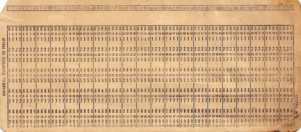 Thẻ đục lỗ là một mảnh giấy cứng dùng để chứa thông tin kỹ thuật số, được thể hiện bởi sự tồn tại của các lỗ (có hoặc không) ở những vị trí đã định nghĩa trước.