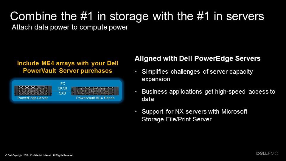 Tích hợp một nhà cung cấp duy nhất: Tích hợp và dùng ngay với các máy chủ Dell EMC PowerEdge thế hệ thứ 13 và 14...