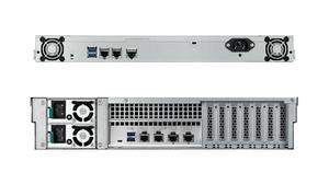 Mặt sau của dòng máy chủ NAS TeraStation 5410RN và TeraStation 51210RH.