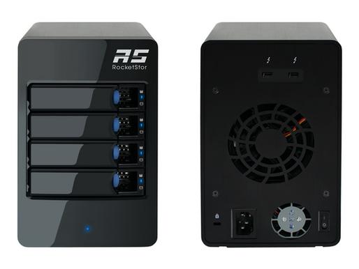 HighPoint RocketStor 6314B: Hệ thống RAID cứng 4-khay Thunderbolt 3