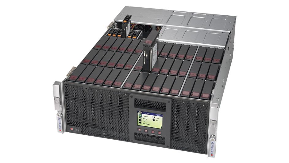 Hệ thống máy chủ SuperStorage 6048R-E1CR45L của Supermicro.