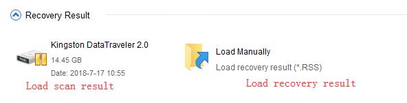 MiniTool Power Data Recovery v8.0 (phiên bản trả phí) hỗ trợ nạp kết quả quét theo hai cách - nạp tự động (Load scan result) và nạp thủ công (Load recovery result).