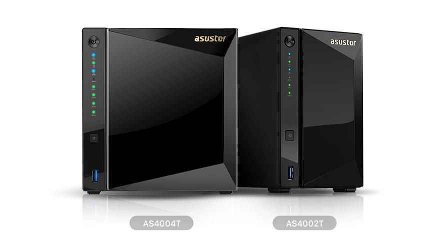 Asustor giới thiệu thiết bị NAS 2-khay AS4002T và 4-khay AS4004T.