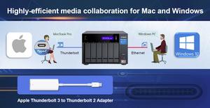 Với một cổng 10GBASE-T 5-tốc-độ (10G/5G/2.5G/1G/100M) và hai cổng Thunderbolt 3, TVS-x72XT là nền tảng biên tập cộng tác truyền thông 4K lý tưởng cho người dùng Mac và Windows.