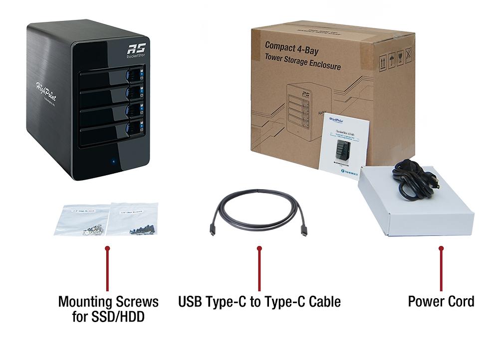RocketStor 6114V (thiết bị lưu trữ RAID 5 USB 3.1 4 khay đĩa, kèm sợi cáp 2 đầu USB-C dài 1m) có giá bán lẻ do nhà sản xuất đưa ra cho thị trường Bắc Mỹ là 299 USD (6,8 triệu đồng).