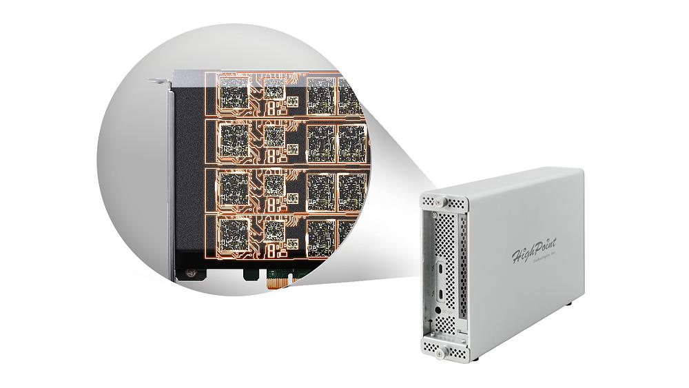 RocketStor 6661A-NVMe là giải pháp lưu trữ NVMe sang Thunderbolt 3, hỗ trợ tối đa 4 SSD NVMe M.2 trên cùng một card, có thể được cấu hình để hoạt động độc lập hoặc trở thành một bộ phận của mảng RAID 0, RAID 1, RAID 5 hay RAID 10.