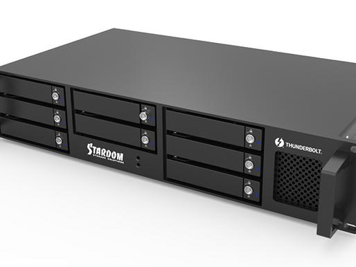 Stardom: Hệ thống lưu trữ RAID dạng rack 8 khay Thunderbolt 3 DR8-TB3
