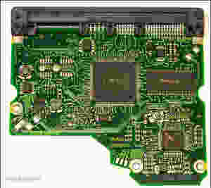 Bo mạch in (printed circuit board - PCB) của HDD Seagate ST31000333AS.