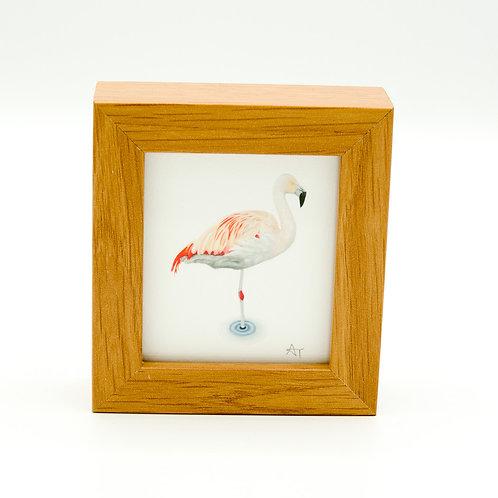 Flamingo Miniature Box Framed Art