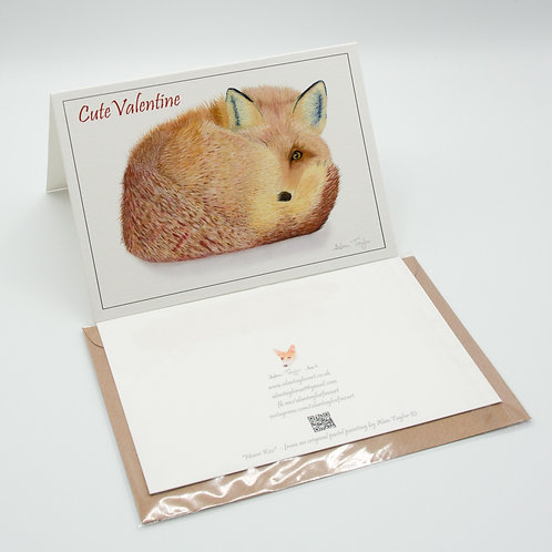 """""""Cute Valentine"""" Valentines Card A6 when folded, with envelope"""