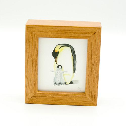 Penguin Miniature Box Framed Art