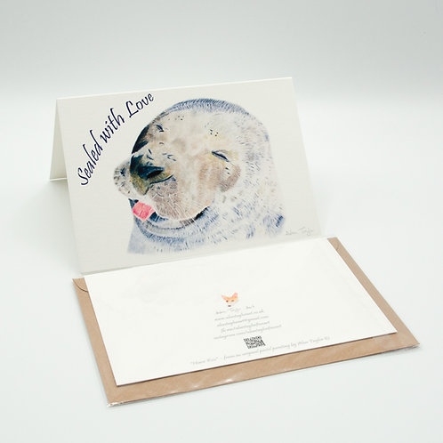 """""""Sealed with Love"""" Valentines Card A6 when folded, with envelope"""