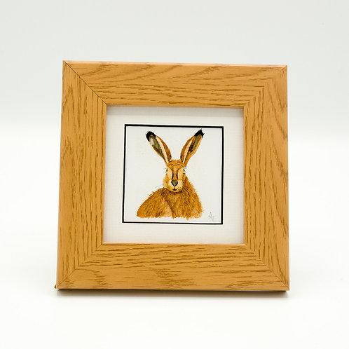 Hare Print Framed