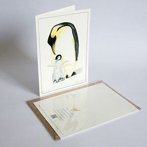 Penguin and chick-Fine-Art-Greeting-Card