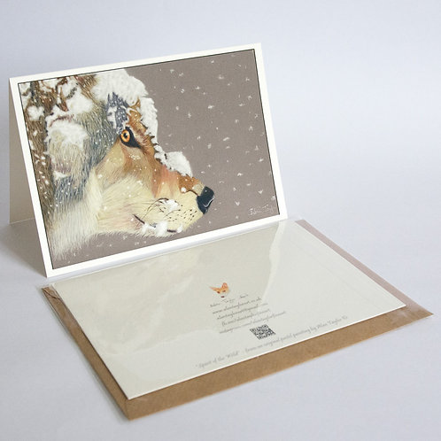 """""""Spirit of the Wild""""   5 Greeting Cards A6 when folded, with envelopes."""