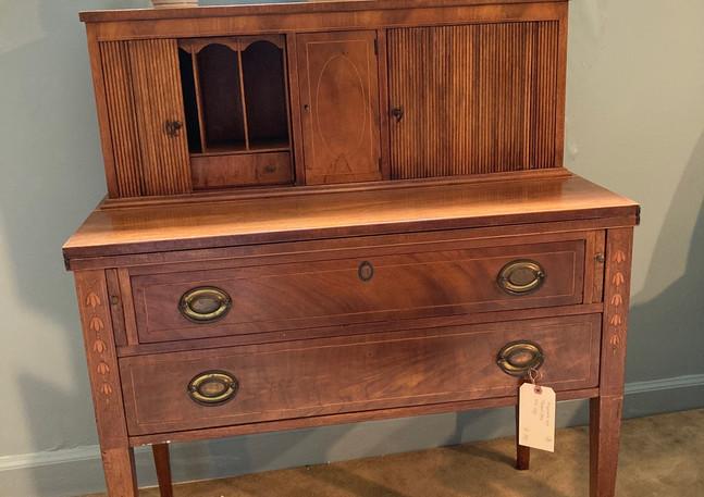 Hemplewhite Style Tambour desk w/ inlay