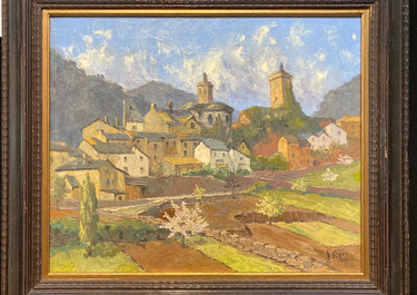 """Hill Village"", Luc Paine, Most likely southern France"